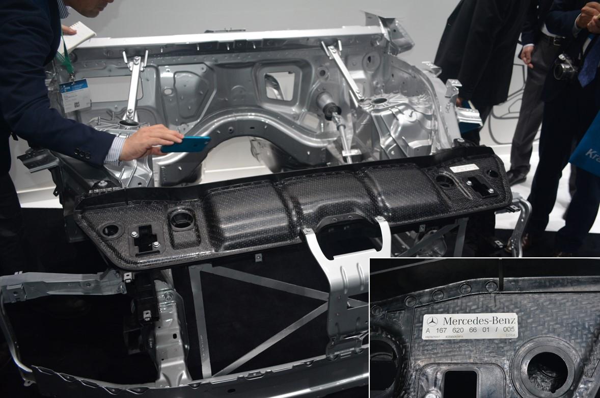 メルセデスベンツに採用された「TEPEX」使用の部品